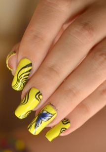 NAIL ART ONE STROKE PAPILLONS FLUO 4