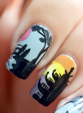 Nail Art Asiatique Pagode