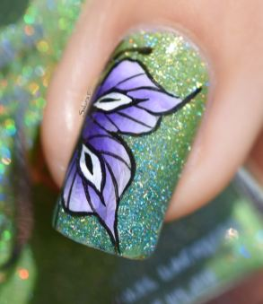 NAIL ART ONE STROKE BUTTERFLY 6