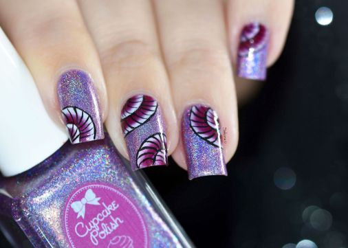 NAIL ART ONE STROKE COQUILLAGE 3