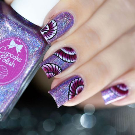 NAIL ART ONE STROKE COQUILLAGE