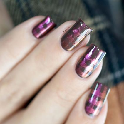 NAIL ART PLAID MULTICHROME 4