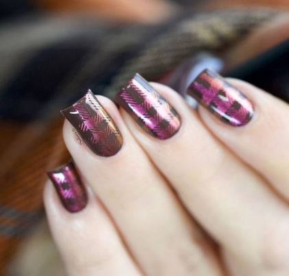 NAIL ART PLAID MULTICHROME 5