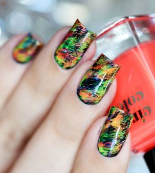 NAIL ART GRAFFITIS FLUOS 13