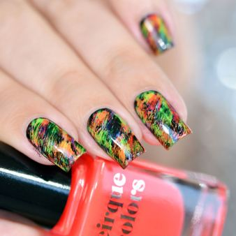 NAIL ART GRAFFITIS FLUOS 15