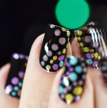 NAIL ART HOLO BUBBLES 3