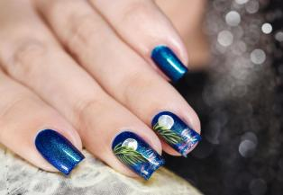 NAIL ART MOONLIGHT ON THE WATER 6