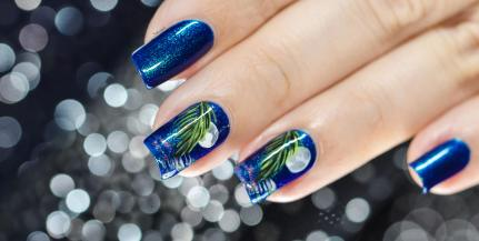 NAIL ART MOONLIGHT ON THE WATER 7
