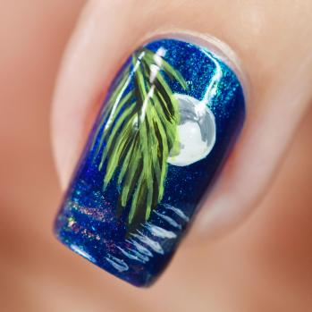 NAIL ART MOONLIGHT ON THE WATER 9