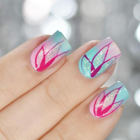 NAIL ART PETALES DEGRADEES 5