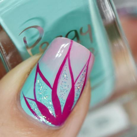 NAIL ART PETALES DEGRADEES 6