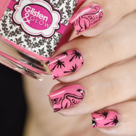 NAIL ART PINK FLAMINGO 3