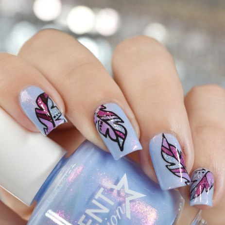 NAIL ART FEATHER 4
