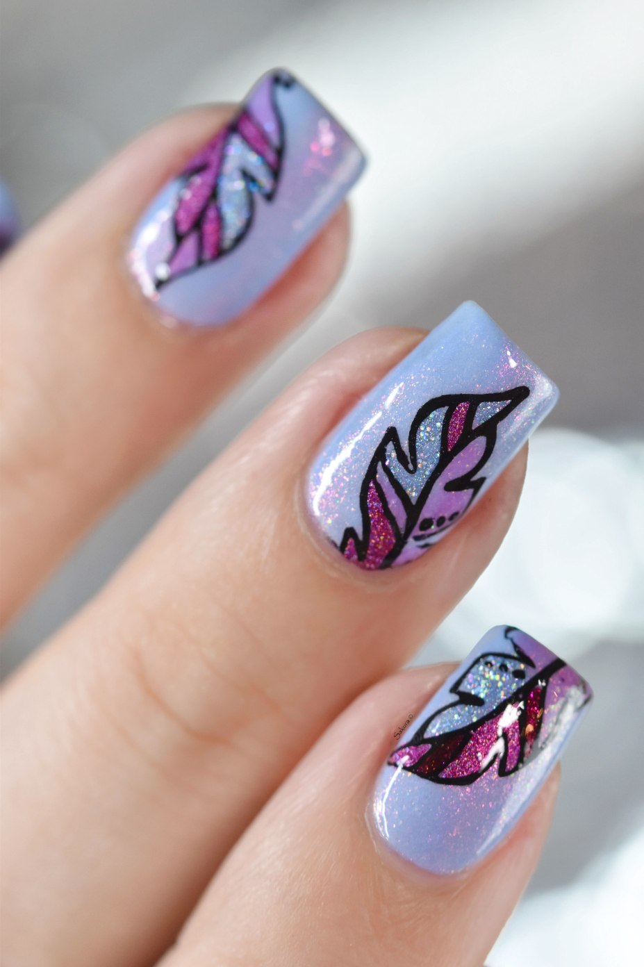 NAIL ART FEATHER