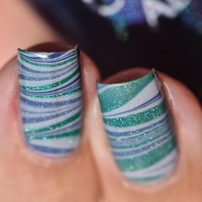 WATERMARBLE BLUE HOLO FASHION 5
