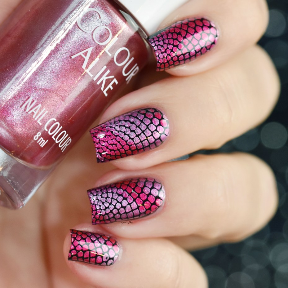 COLOUR ALIKE GRADIENT RED LILAC PINK 3