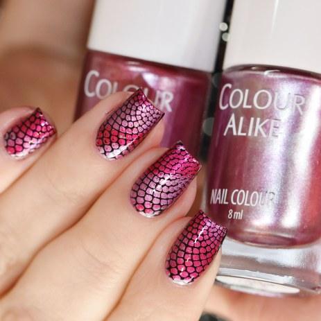 COLOUR ALIKE GRADIENT RED LILAC PINK 5