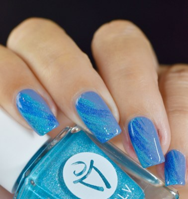 NAIL ART DRY BRUSH LCVL BLUE 4