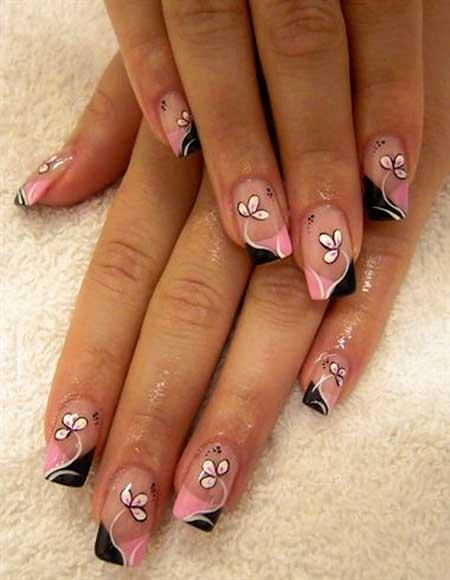 Gel Nail Art Flowers