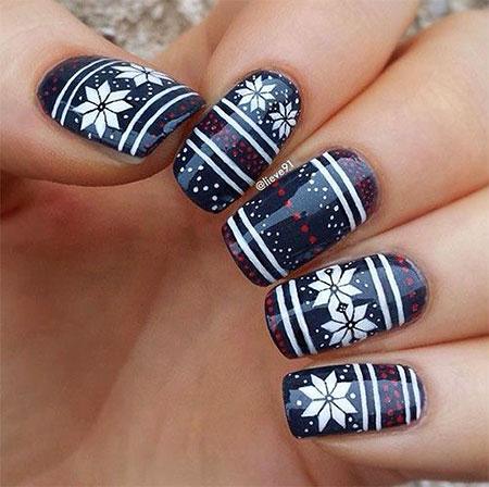 Winter Nail Art Design Christmas