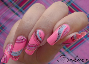 Nail art Flashy Rose 5