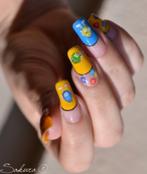 NAIL ART M&MS WATER DECALS