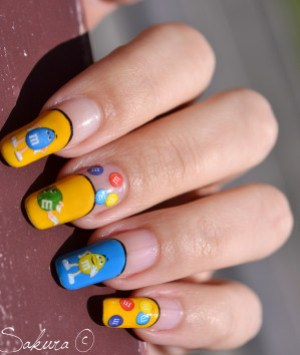 NAIL ART M&MS WATER DECALS 4