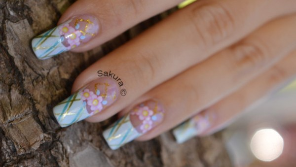 NAIL ART FRENCH QUADRILLEE WD 8