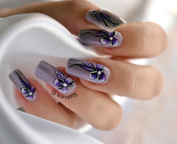 NAIL ART ONE STROKE NOEUD 6
