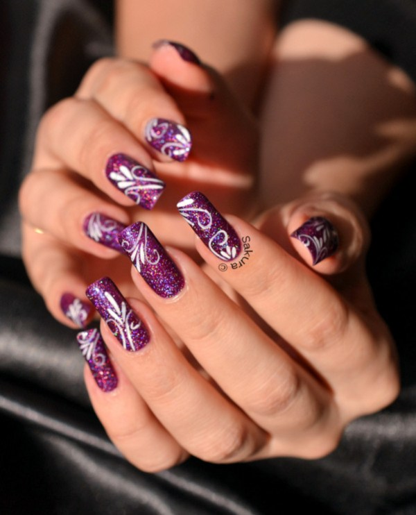 NAIL ART AURORA ARABESQUES 5