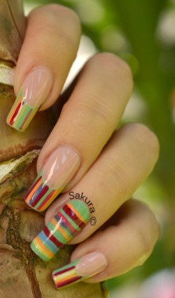 NAIL ART FRENCH LINEAIRE 9