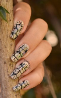 NAIL ART PAPIER JOURNAL LEZARDES 2