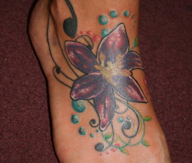 Flower Foot Tattoos Designs And Ideas Tattoo On Foot