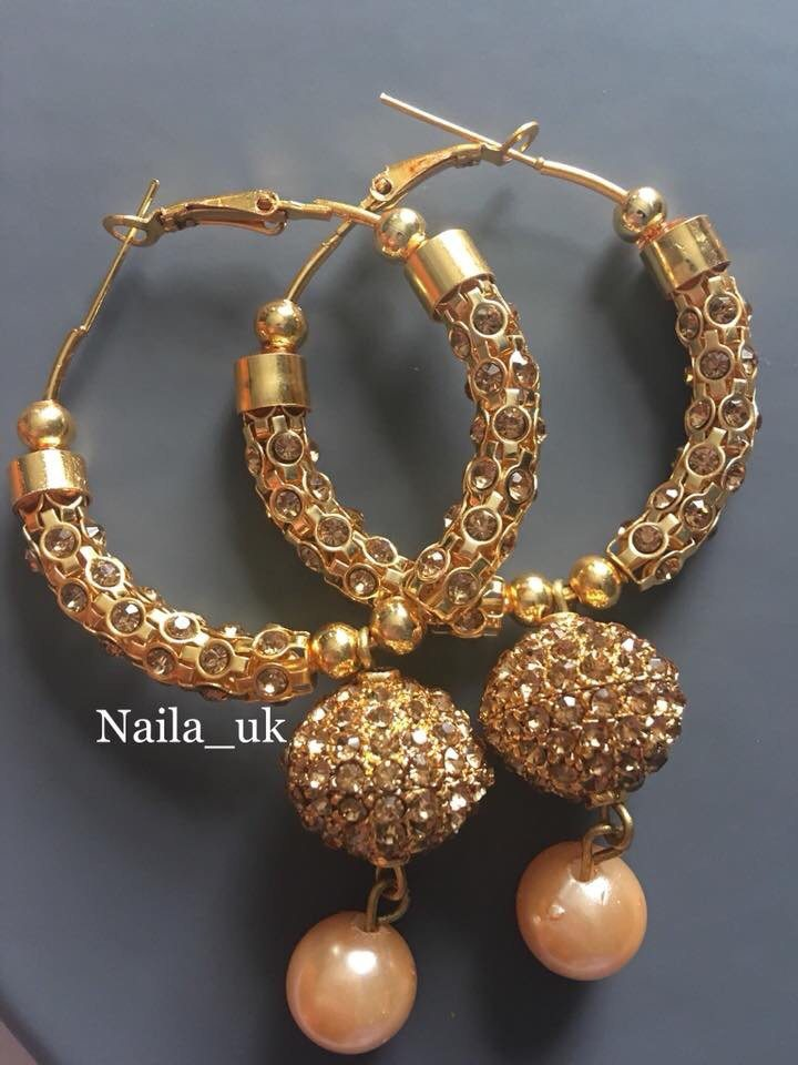 Indian Bali designs earrings Nailas Collection