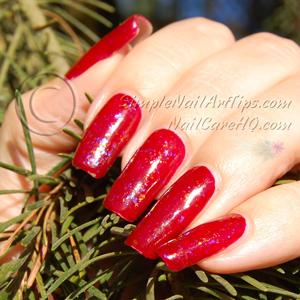 Image Of Gel Nail Polish Under Red