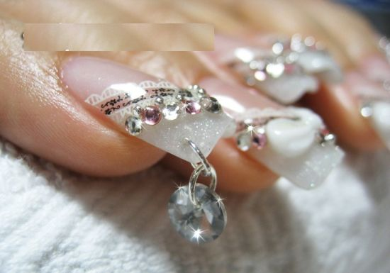 Diamond embedded nails