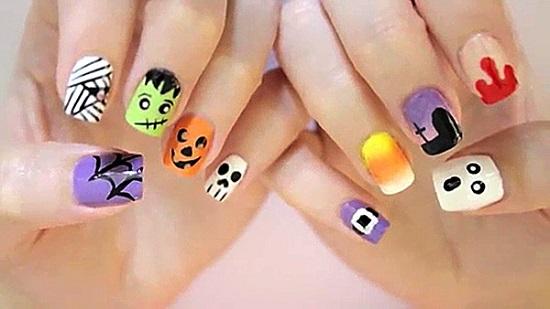 halloween nail art35