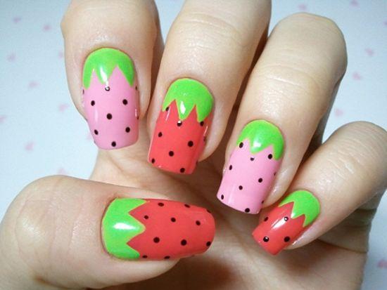 Fruits nail designs
