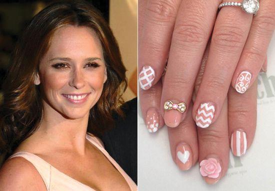 Pretty pink celebrity nail designs