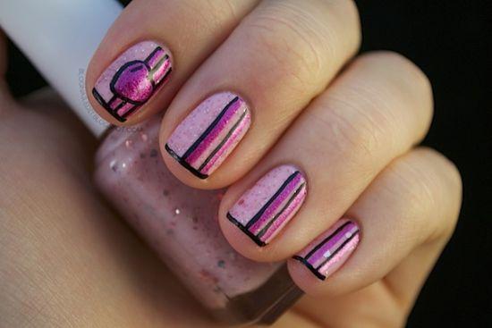Striped Nail Designs