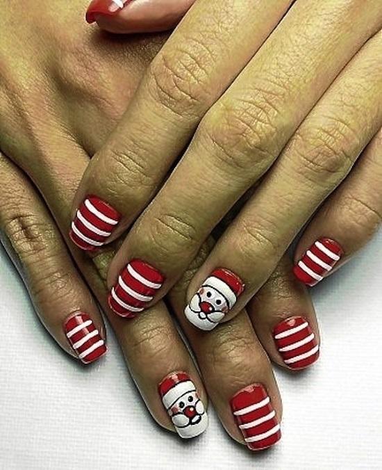 Santa Nail Art: 35 Santa Claus Nail Art Designs