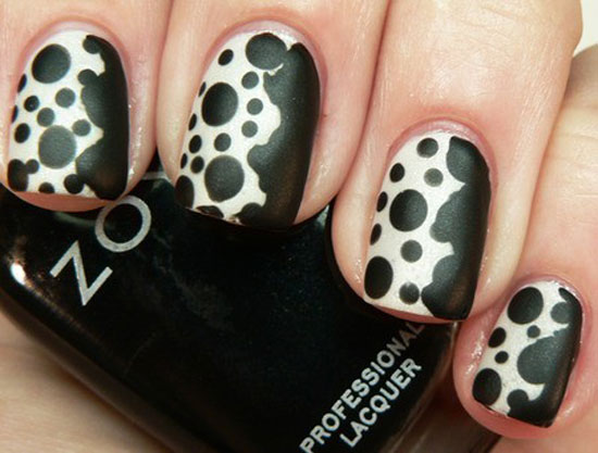 Black And White Nail Designs 12