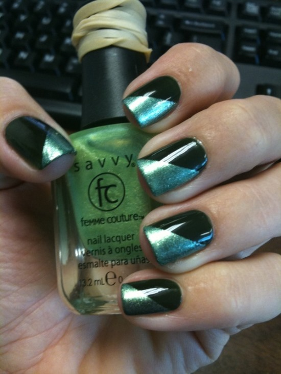 Funky French Mani
