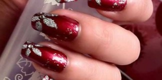Red Wedding Nail Designs