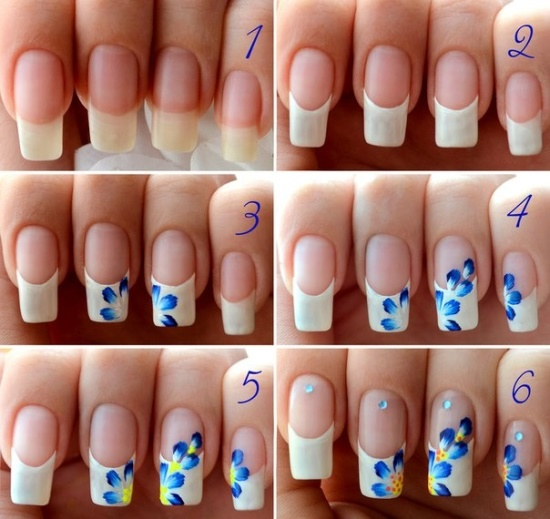 Flower-on-the-tip Nail Design