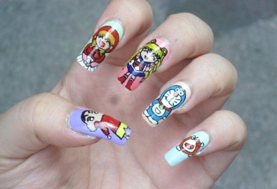 stunning japanese nail art design