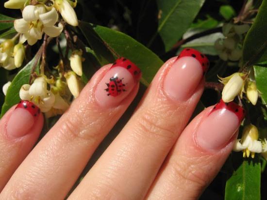 Ladybug Nail Art