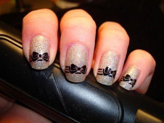 Bow Nail Art Designs