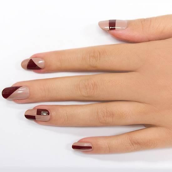 Burgundy Nail Art