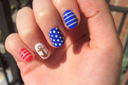 Nails Painted Red White And Blue 4k Pictures 4k Pictures Full
